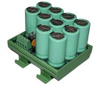 Din rail capacitors